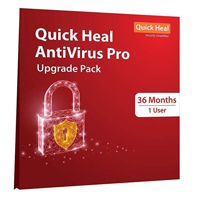 Renew Quick Heal AntiVirus Pro 1 pc 3 Year